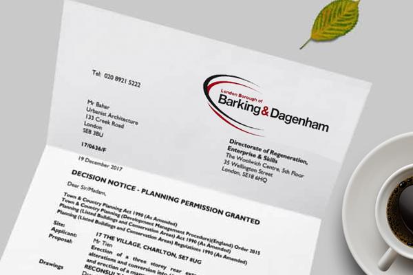 planning application for Barking & Dagenham