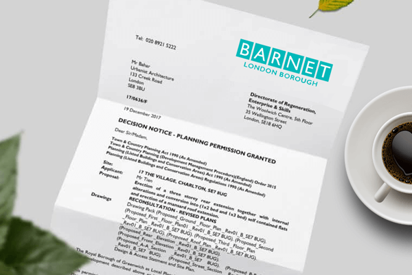 planning application for Barnet