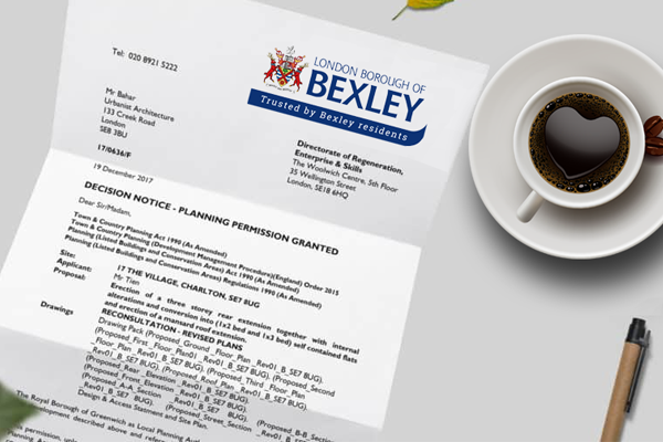planning application for Bexley