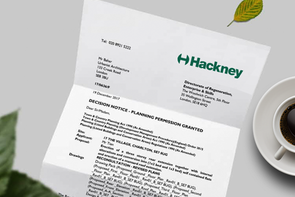 planning application for Hackney