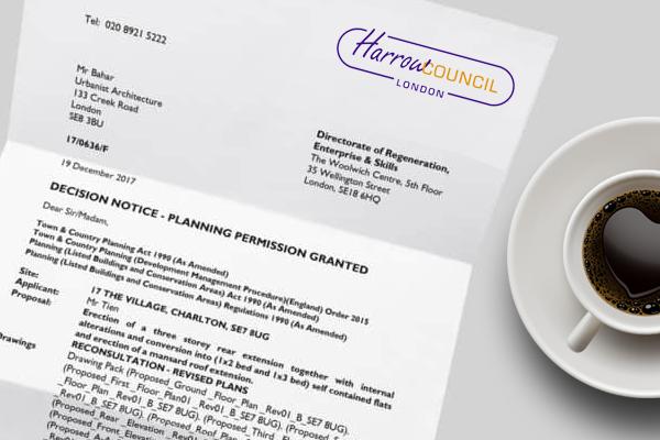 planning application for Harrow