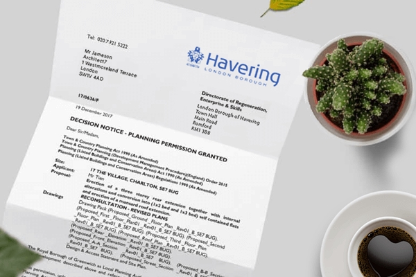 planning application for Havering