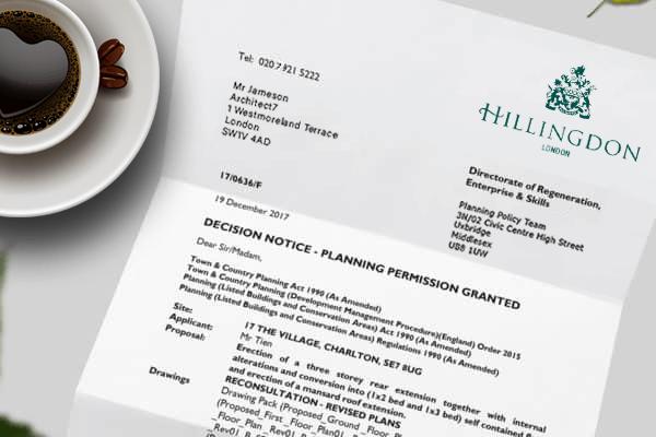 planning application for Hillingdon