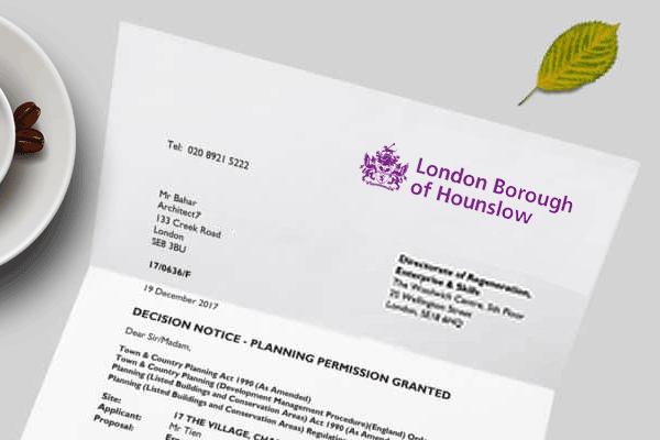 planning application for Hounslow
