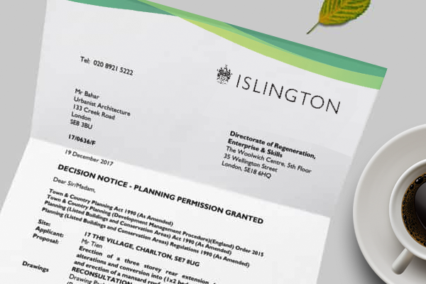 planning application for Islington
