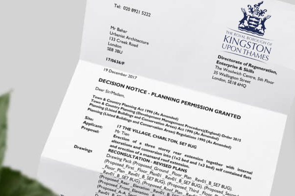 planning application for Kingston Upon Thames