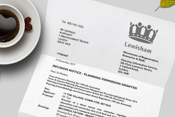 planning application for Lewisham