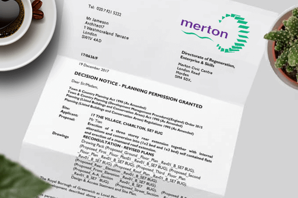 planning application for Merton