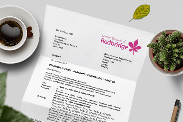 planning application for Redbridge