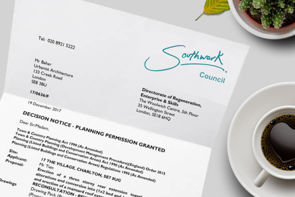 Planning Permission Application for Planning Permission in East Dulwich
