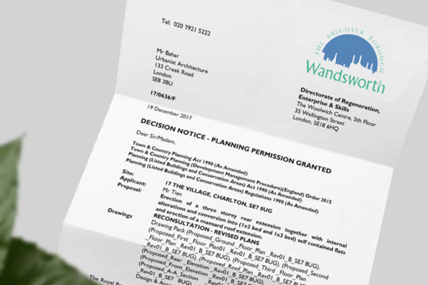 planning application for Wandsworth